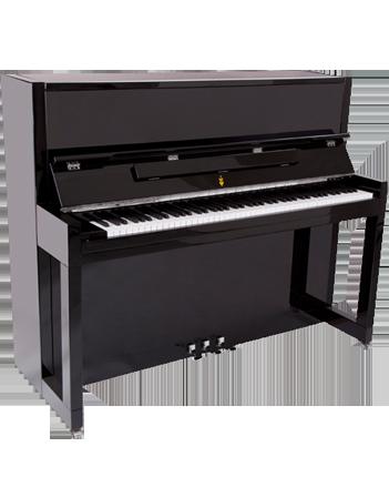 feurich 115 noir brillant pianos droit fiche technique. Black Bedroom Furniture Sets. Home Design Ideas